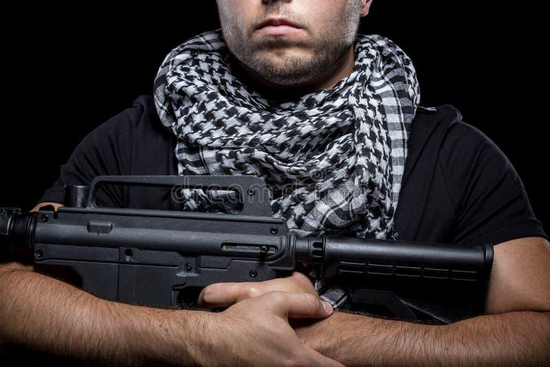 Mercenaire militaire privé d'entrepreneur photo libre de droits