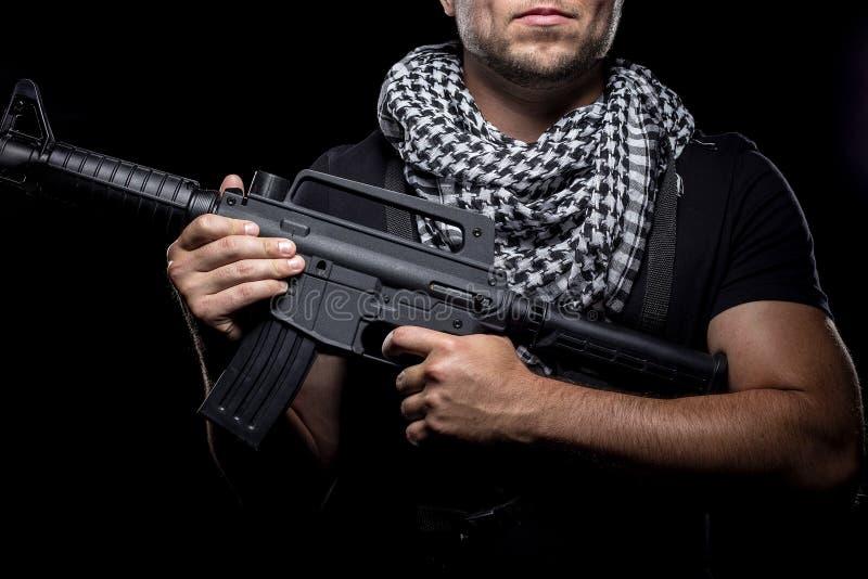 Mercenaire militaire privé d'entrepreneur image stock