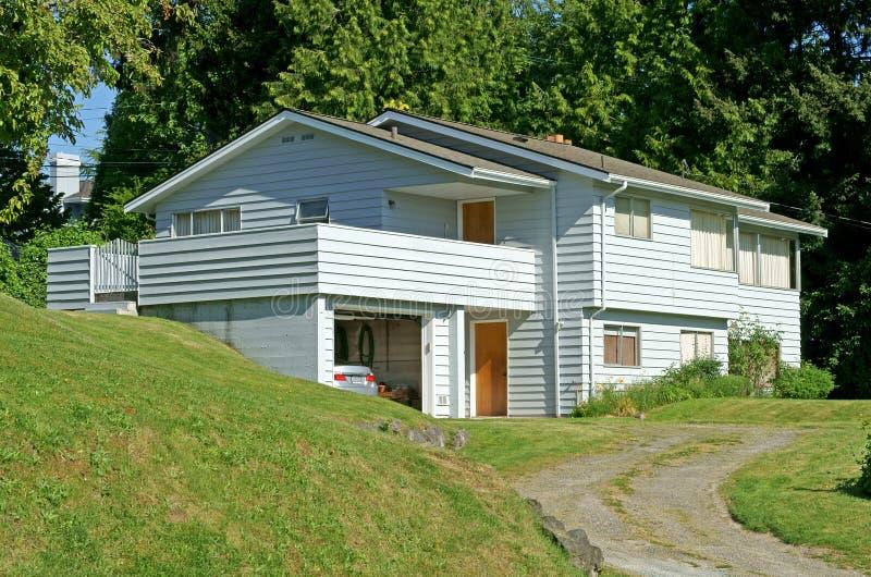Mercer Island, Washington, United States. Two-storey house. With garage royalty free stock photo