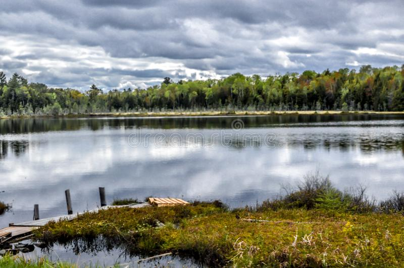 Mercer Lake in the Northwoods of Wisconsin stock image