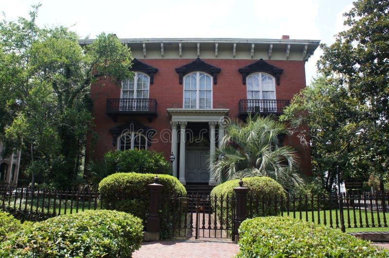 Mercer Williams House Museum in savana, Georgia immagine stock libera da diritti