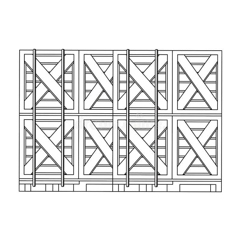 Merchandise drewniani pudełka wypiętrzający w górę czarny i biały w royalty ilustracja