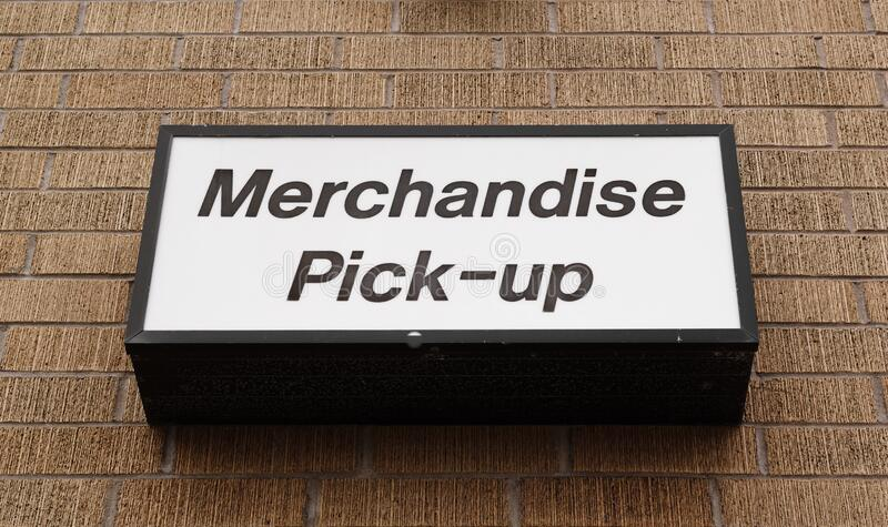 Merchandise Pick Up Sign royalty free stock image