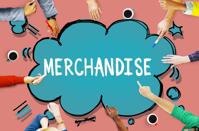 Merchandise Product Marketing ConsumerSell Concept royalty free stock image