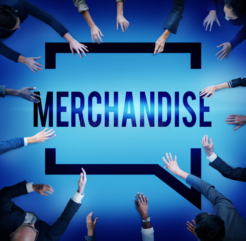 Merchandise Product Marketing ConsumerSell Concept royalty free stock photography