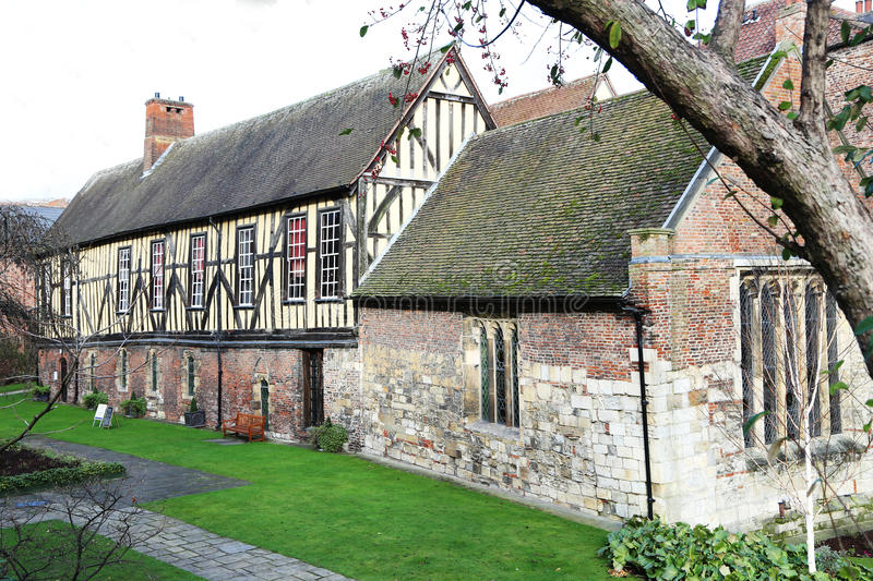 The Merchant Adventurers Hall, York, England. An Elizabethan building housing one of the city's ancient Guilds stock photography