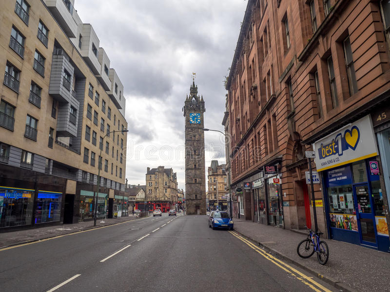 Merchant City with the Tolbooth Steeple stock photo