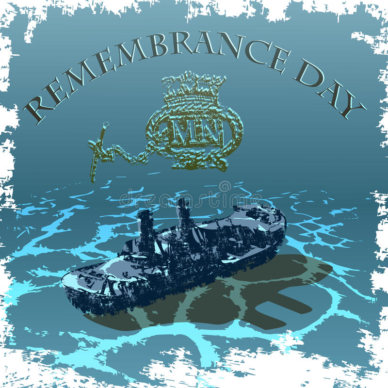 Merchant_Navy_Reminiscence_Day ilustracji