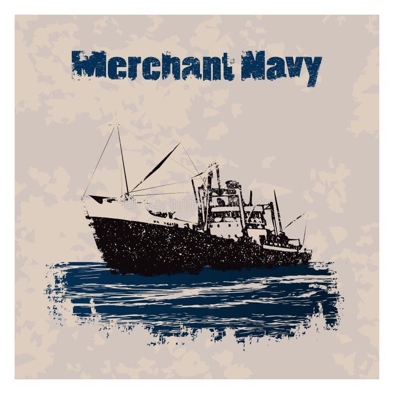 Merchant_navy_ship ilustración del vector