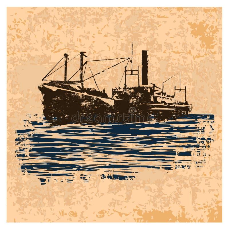 Merchant_navy_vintage stock de ilustración