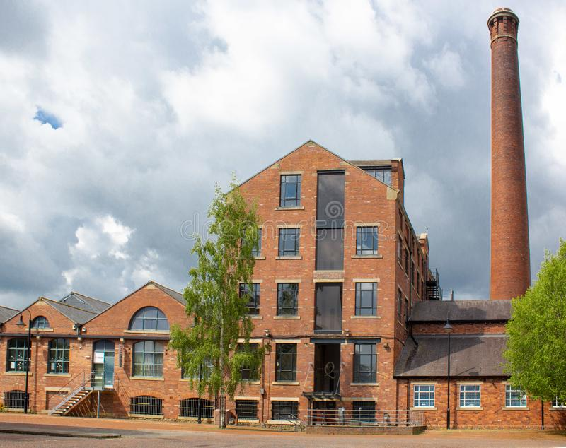 Merchant`s Quay, a landmark on the Leeds and Liverpool Canal royalty free stock photo