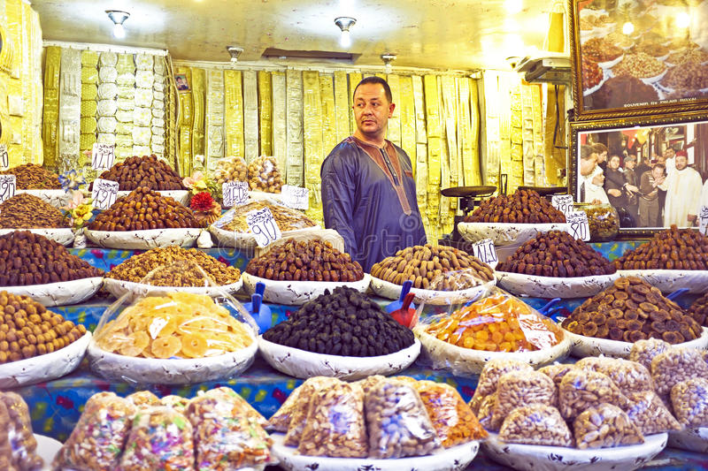 Download Merchant Is Selling Dried Fruit Editorial Stock Photo - Image of dades, medina: 38669438