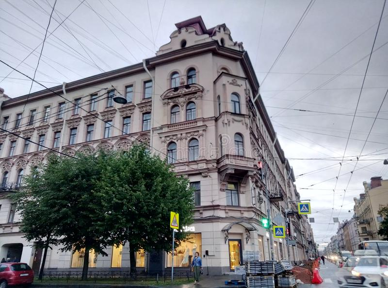 Profitable House Kolobovs St. Petersburg stock image