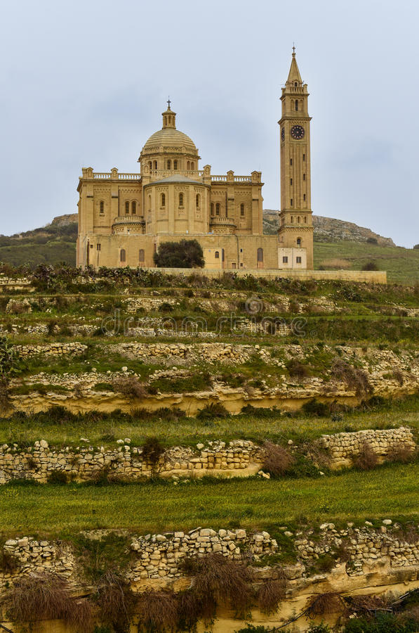 Merci église Gozo Malte de Pinu photo stock