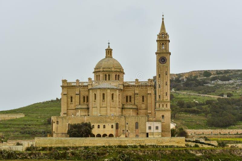 Merci église Malte, île de Pinu de Gozo image libre de droits