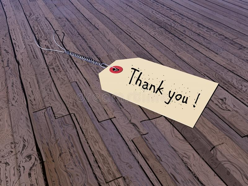 Merci étiqueter - 3D rendent illustration stock