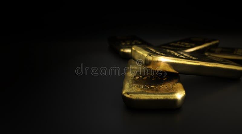 Merci, barre della verga d'oro sopra il nero illustrazione vettoriale