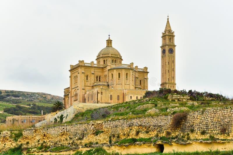 Merci basilique de Pinu, Malte, île de Gozo image libre de droits