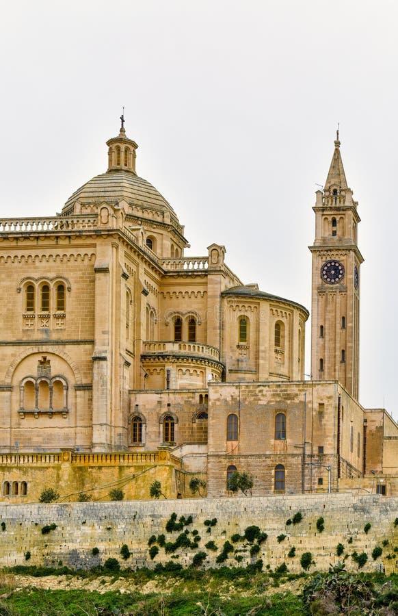 Merci basilique de Pinu, Malte, île de Gozo photographie stock