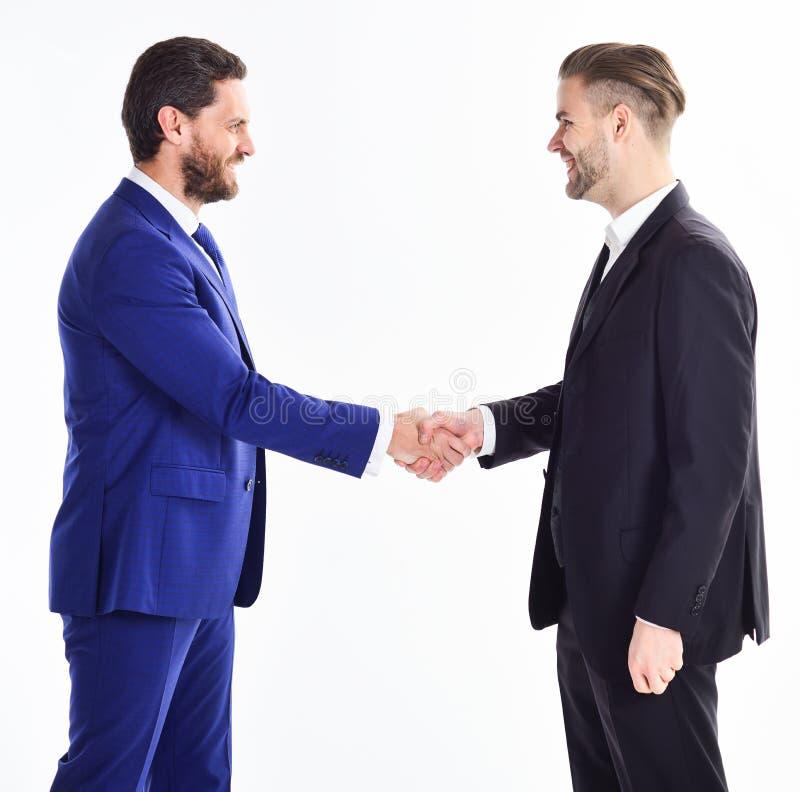 Merci de la coopération Collaboration des hommes d'affaires Hommes se serrant la main Signe de poignée de main d'affaire réussie image stock