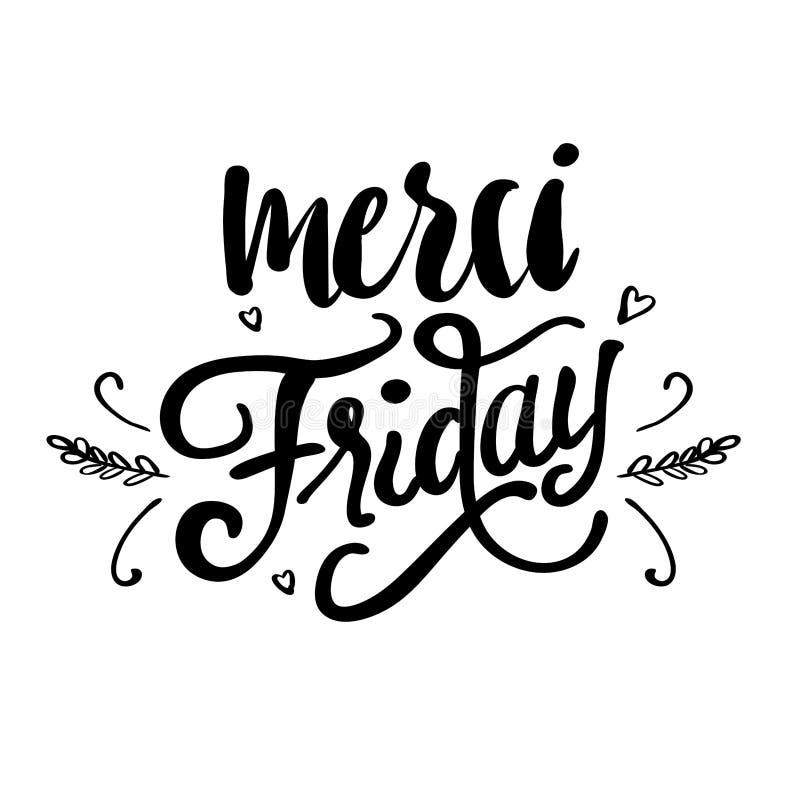 Merci Friday stock illustration