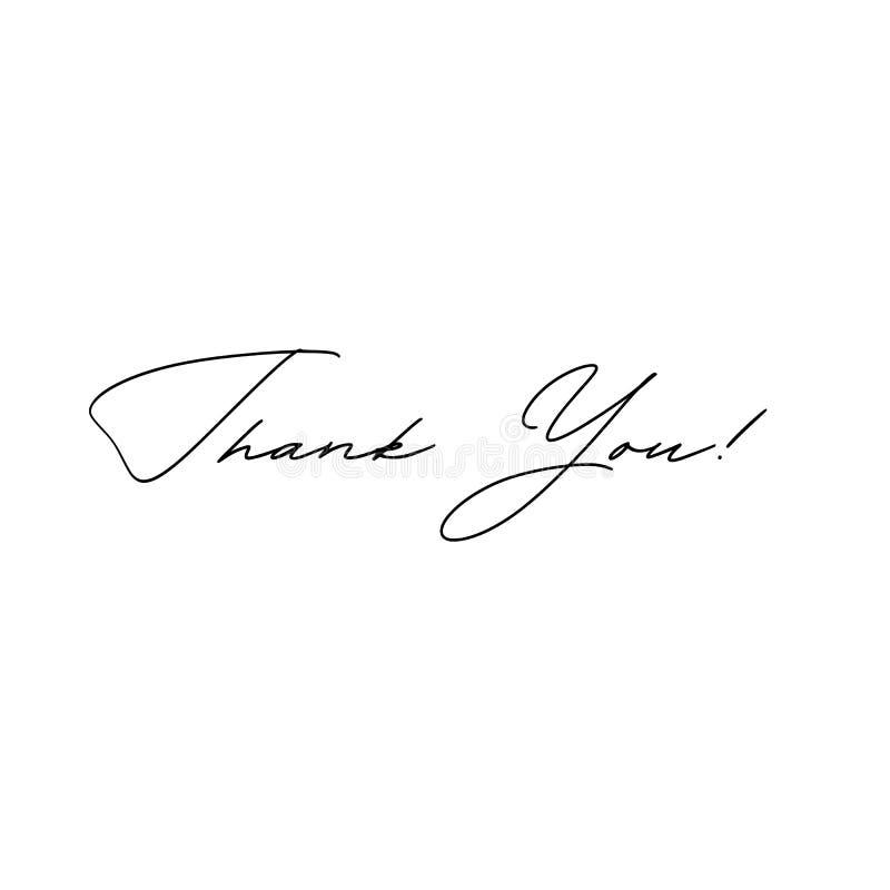 Merci inscription manuscrite Lettrage tiré par la main Merci calligraphie Merci carder Illustration de vecteur illustration de vecteur