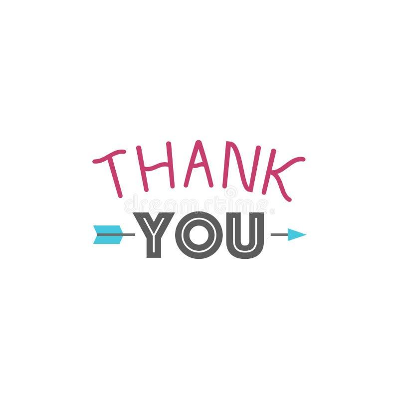 Merci message d'expressions de citation de thanksfull d'insigne de vecteur de lettrage des textes d'émotions de sentiment de grat illustration de vecteur