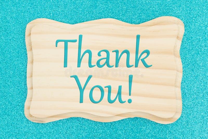 Merci message sur un signe en bois image stock