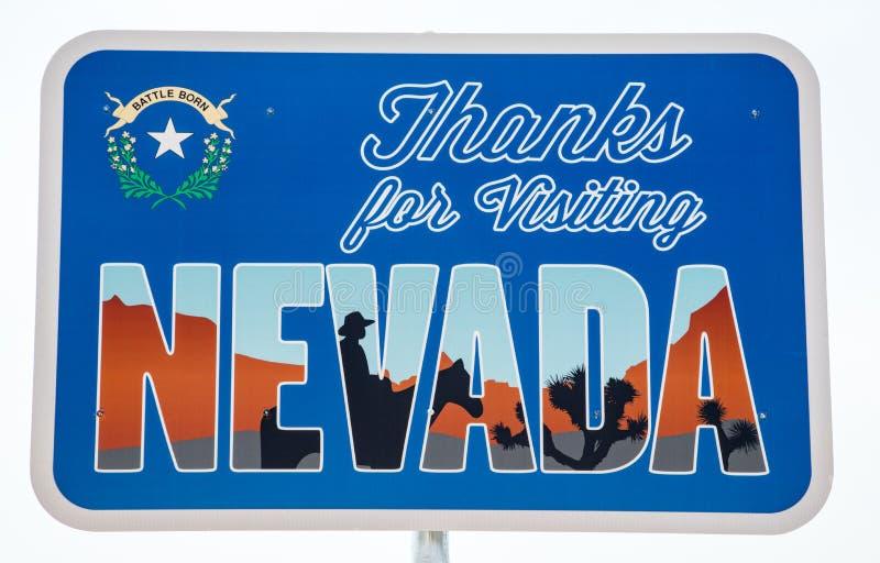 Merci pour rendre visite à Nevada Sign illustration stock