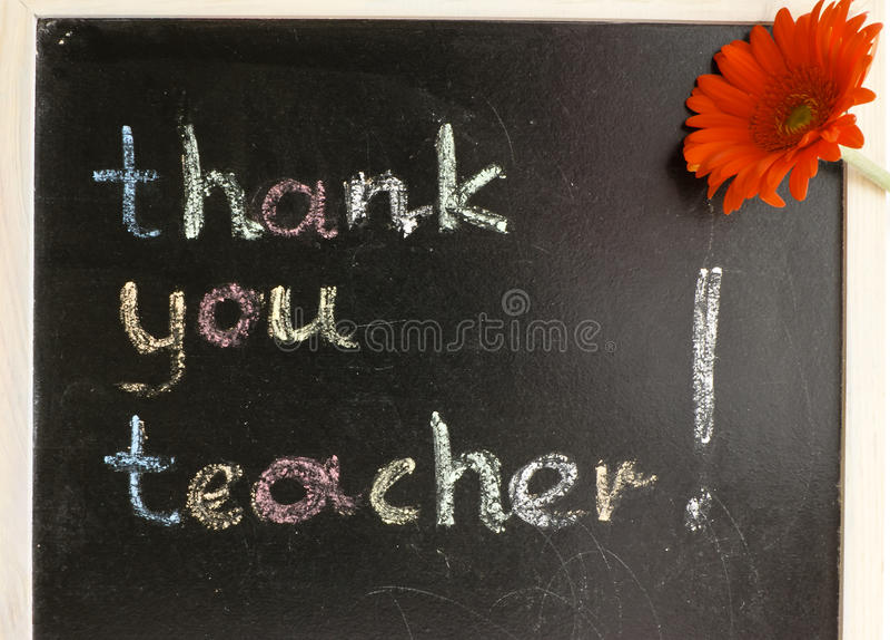 Merci professeur ! photo stock