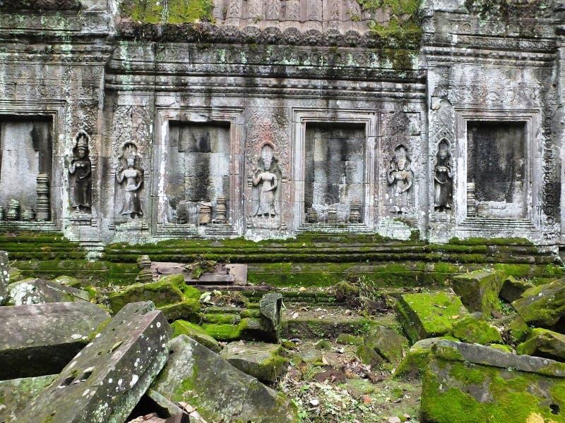 Merci Prohm (Rajavihara), un temple chez Angkor, province, Cambodge photographie stock