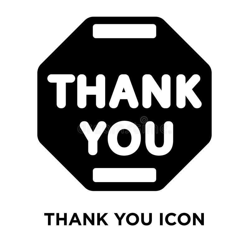 Merci vecteur d'icône d'isolement sur le fond blanc, concept de logo illustration libre de droits