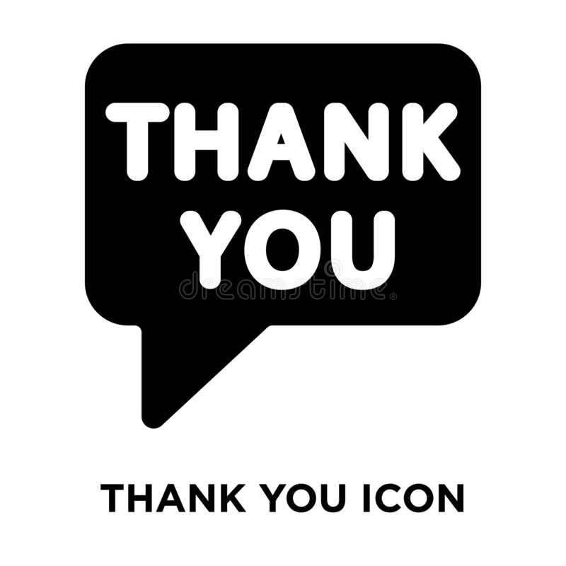 Merci vecteur d'icône d'isolement sur le fond blanc, concept de logo illustration de vecteur
