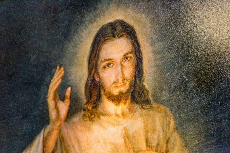 Merciful Jesus stock image