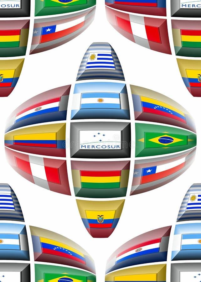 MERCOSUR-Länder lizenzfreie abbildung