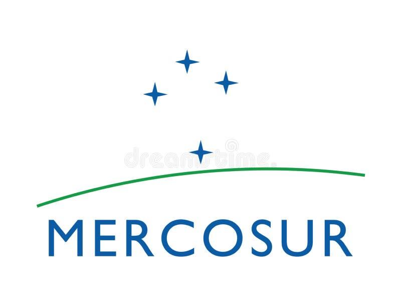 Mercosur flag stock photography