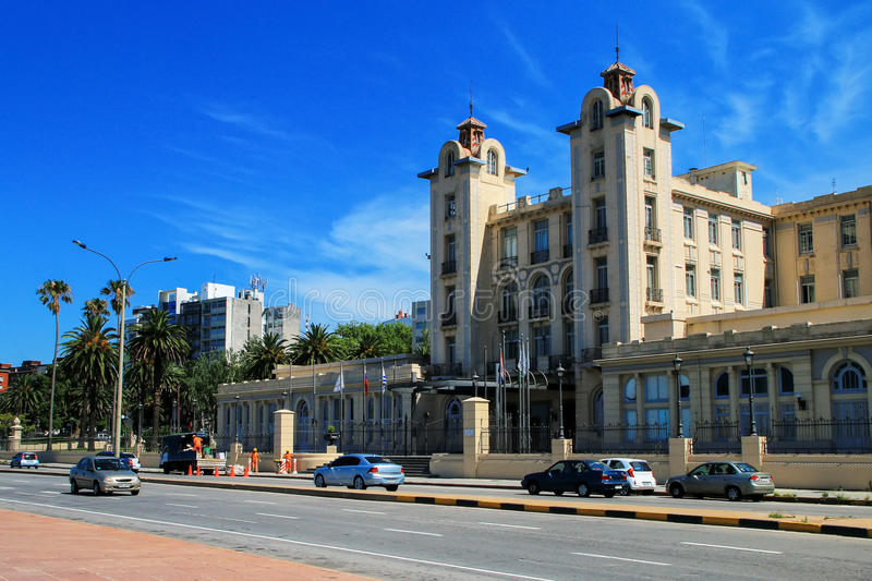 Mercosur Parliament building along the bank of Rio de la Plata i royalty free stock image