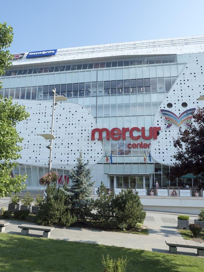 Mercur köpcentrum, Craiova, Rumänien royaltyfri fotografi