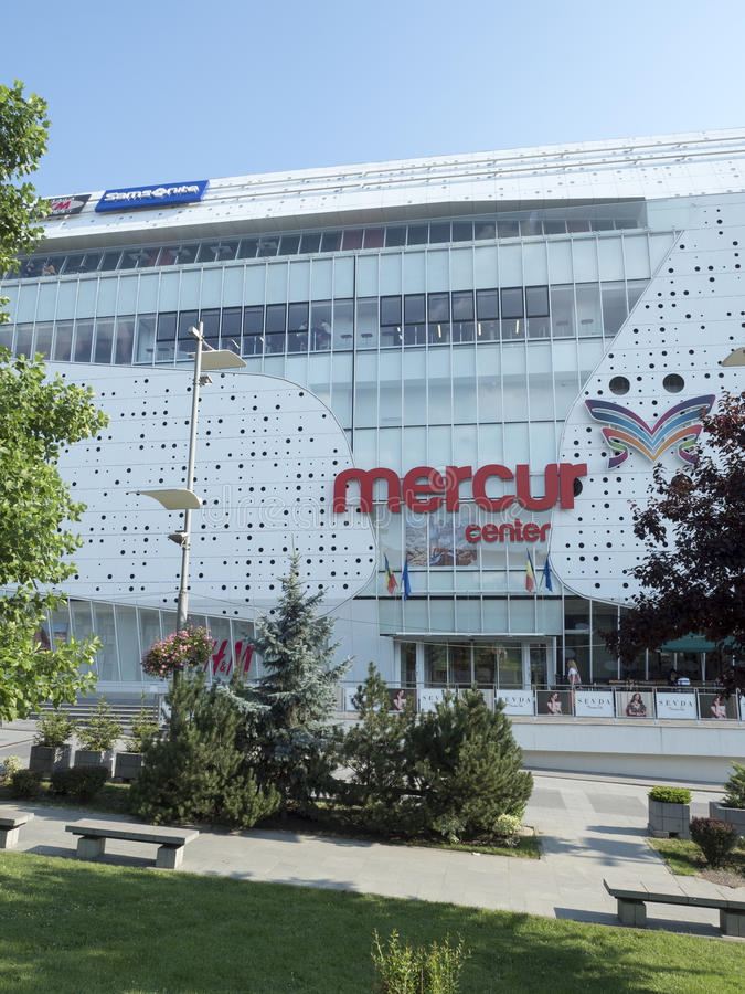 Mercur Shopping Center, Craiova, Romania. Mercur Shopping Center at Mihai Viteazu square in Craiova, Romania. Craiova is Romania`s 6th largest city and capital royalty free stock photography