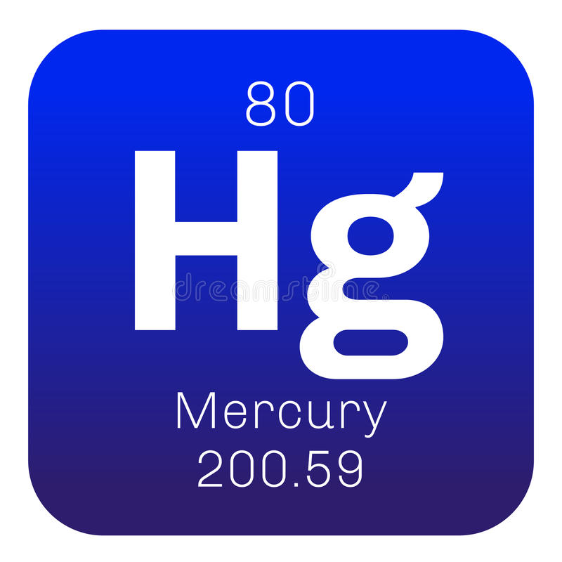 Mercury chemiczny element ilustracja wektor