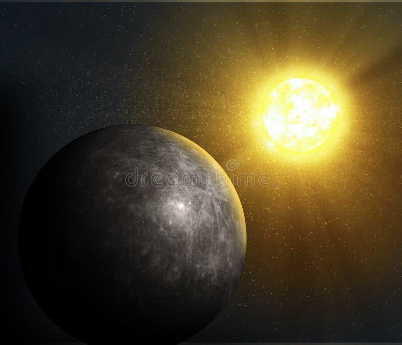 Mercury del planeta ilustración del vector