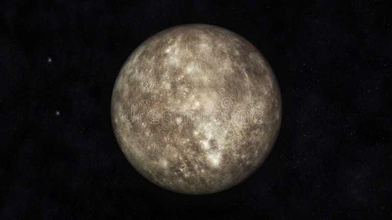 Download Mercury stock illustration. Image of fiction, solar, moon - 36293706