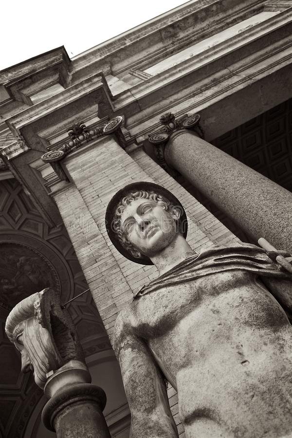 Download Mercury Hermes Statue At Vatican Museum Stock Photo - Image: 83715532