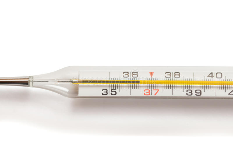 Mercury medical thermometer stock photos