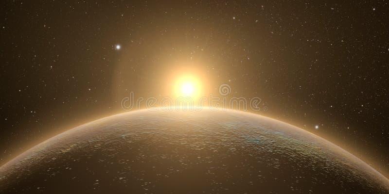 Mercury met zonsopgang stock afbeeldingen