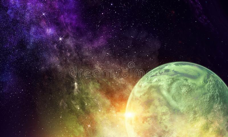 Mercury-planeet Gemengde media stock afbeelding