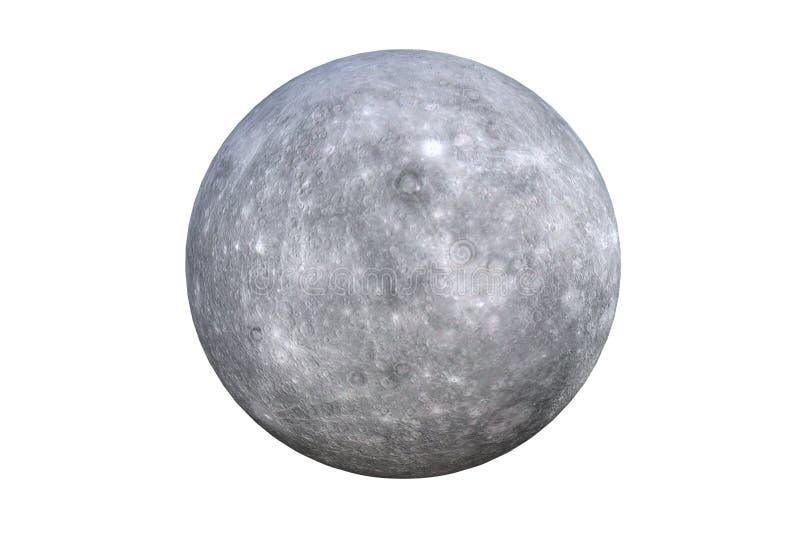 Mercury Planet auf weißem Hintergrund Wiedergabe 3d stock abbildung