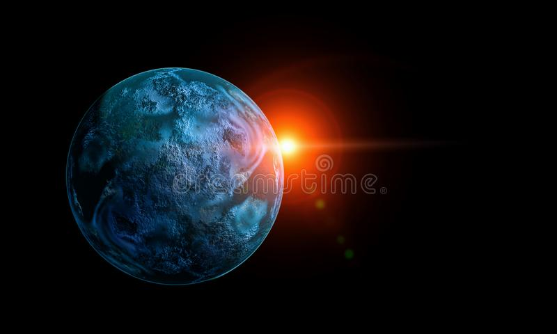 Mercury planeta Mieszani środki fotografia royalty free