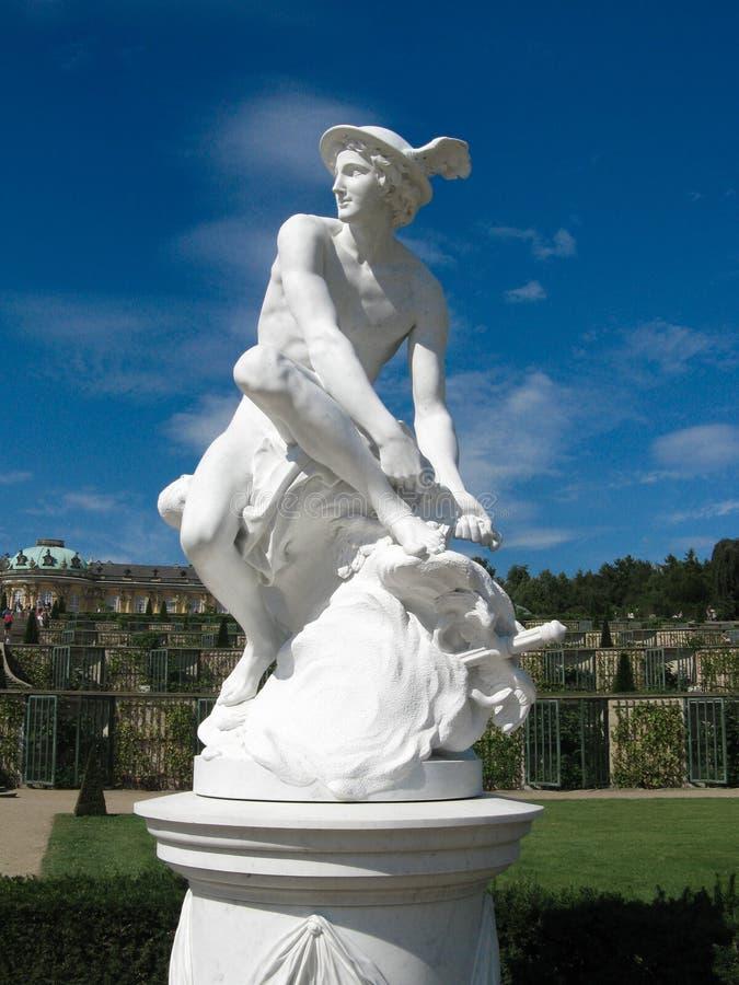Mercury Statue royalty-vrije stock afbeelding