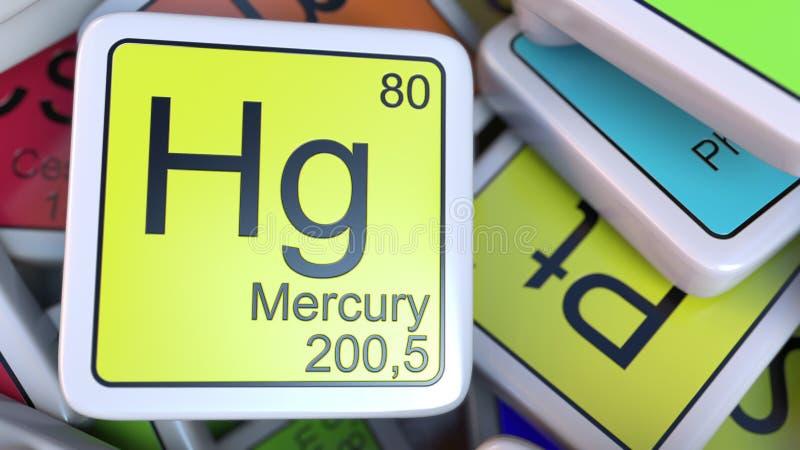 Mercury hg block on the pile of periodic table of the chemical download mercury hg block on the pile of periodic table of the chemical elements blocks urtaz Image collections